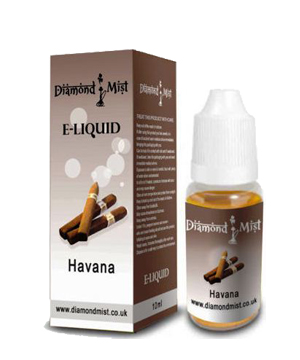 Diamond Mist Havannah 10ml/12mg E-Liquid Herbal Shisha flavour