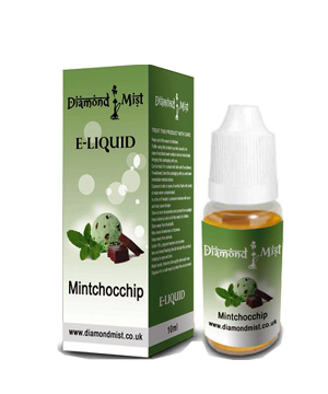 Diamond Mist Mint Choc Chip 10ml/12mg E-Liquid Herbal Shisha flavour