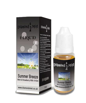 Diamond Mist Summer Breeze 10ml/12mg E-Liquid Herbal Shisha flav