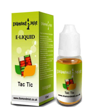 Diamond Mist Tac Tic 10ml/12mg E-Liquid Herbal Shisha flavour