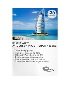 Neo Gloss Paper 180GSM Pack of 20