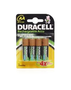 Duracell Rechargeable 'AA' 1950mah - 4 Pack
