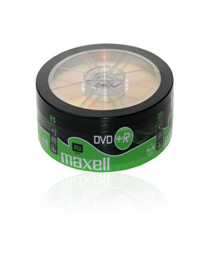 Maxell DVD+R (16X) 25 spindle