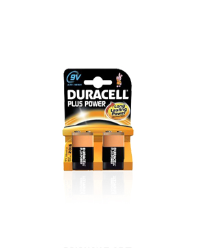 Duracell  9v Alkaline Battery-2 pack