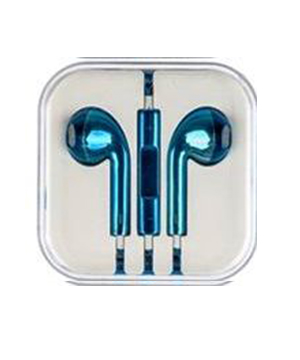 Metallic Blue Earphone for iPhone