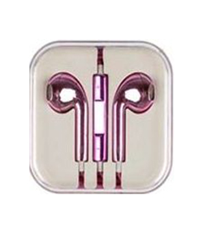 Metallic Pink Earphone for iPhone