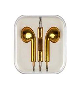 Metallic Yellow Earphone for iPhone