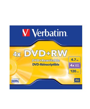 Verbatim DVD+RW 4.7Gb (4x)-Single price