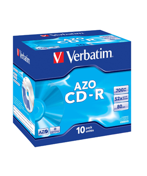 Verbatim AZO CD-R80 (52x) 10 pack Jewel case