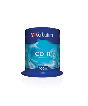 Verbatim CD-R80 (52X) Semi-branded- 100 Shrink Wrap