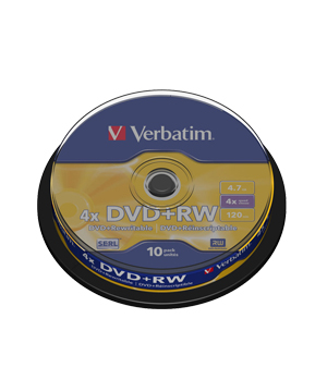 Verbatim DVD+RW 4.7Gb (4x) - 10 Spindle