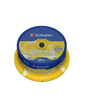 Verbatim DVD+RW 4.7Gb (4x) - 25 Spindle