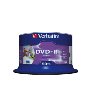 Verbatim DVD+R (16x) - 50 Spindle -Printable no ID brand