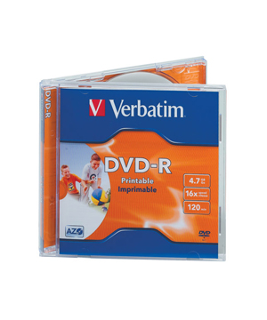 Verbatim DVD-R Printable (16x) In jewel case