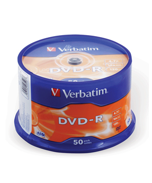 Verbatim DVD-R (16x) - 50 Spindle