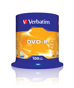 Verbatim DVD-R (16x) - 100 Spindle