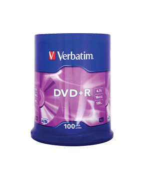 Verbatim DVD+R 4.7gb (16x) - 100 spindle