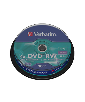 Verbatim DVD-RW (4x)  4.7Gb - 10 Spindle
