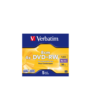 Verbatim DVD+RW 8cm-30 min (1-4x) single price