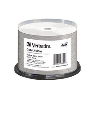 Verbatim DVD+R 8.5GB Wide Thermal Printable - 50 Spindle