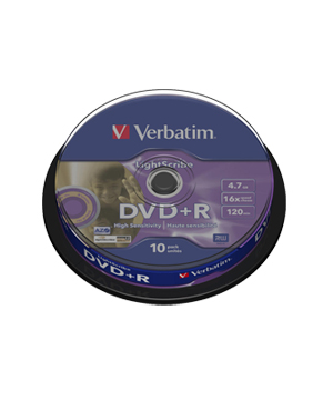 Verbatim DVD+R 4.7GB Lightscribe - 10 spindle