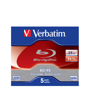 Verbatim BD-RE  25GB (2x) 5 Pack Jewel Case