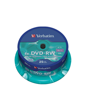 Verbatim DVD-RW (4x) 4.7Gb - 25 Spindle