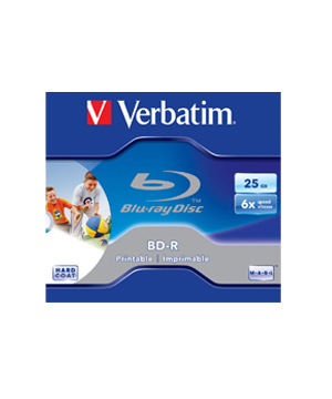 Verbatim Blu Ray 25GB - Wide Inkjet Printable (6x) - Single
