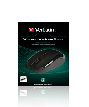 Verbatim Wireless Laser Nano Mouse-Black