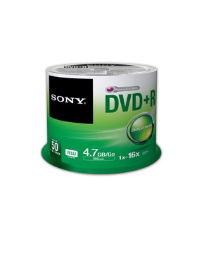 Sony DVD+R (16x) 50 Spindle