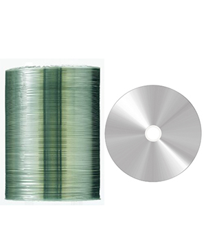 Taiyo Yuden CD-R80 (52x) Full Face Silver Printable - 100 Shrink