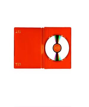 DVD Case - Orange holds 1 Disc with M-Lock  mechanism (14mm)