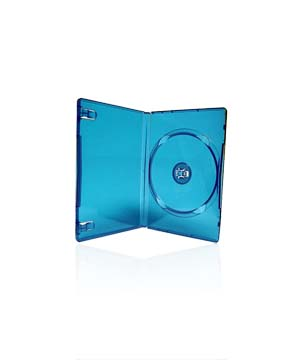 DVD Case - Blue holds 1 Disc with M-Lock  mechanism (14mm)