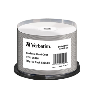 Verbatim DVD RAM 9.4Gb (50 spindle)