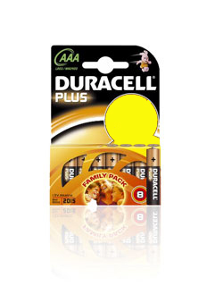 Duracell  AAA Alkaline Plus Batteries - 8 Pack