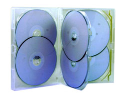 DVD Case - Amaray Premium DVD 6 Disc Overlay Type Case