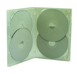 DVD Case - Amaray Premium DVD 4 Disc Overlay Type Case