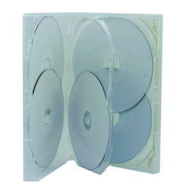 DVD  Case - Amaray Premium DVD 5 Disc Clear Overlay Type Case