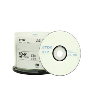 TDK BD-RE 25GB (1-2x) - 50 Spindle