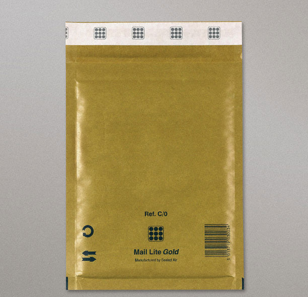 Mail Lite Gold Bags (C/0-150x210 mm) Box of 100