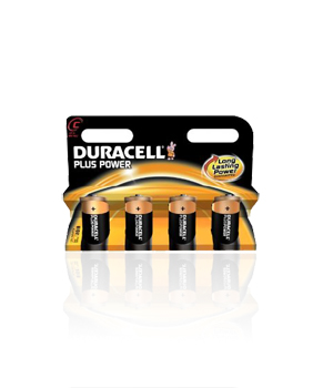 Duracell  C Alkaline Batteries - 4 Pack