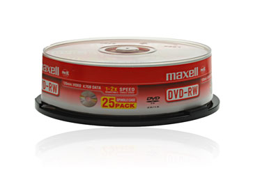 Maxell DVD-RW (2x) - 25 spindle