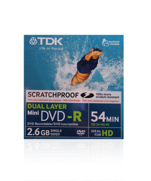 TDK DVD-R Dual Layer 54Min Scratchproof