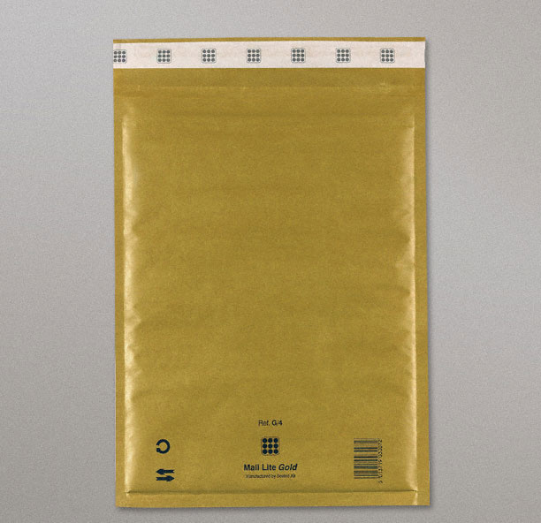 Mail Lite Gold Bags (G/4-240x330 mm) Box of 50