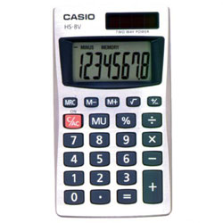 Casio Pocket Calculator 8 Digit Display