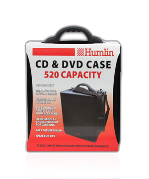 Humlin CD/DVD Carry case Holds 520