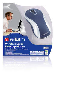 Verbatim Laser Wireless Desk Top Mouse - Blue