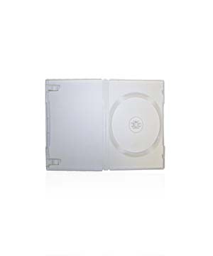 DVD Case - White holds 1 Disc with M-Lock  mechanism (14mm)