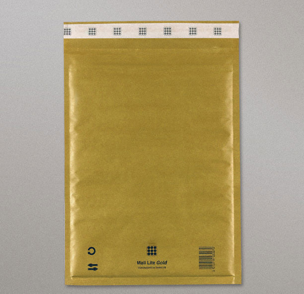 Mail Lite Gold Bags (B/00-120x210 mm) Box of 100