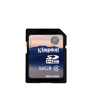 Kingston SDHC 16GB HC4 (30x) Class 4 SDHC
